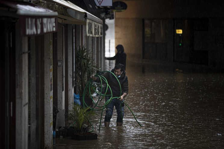 Baixa de Cascais foi uma das zonas que sofreu inundações no distrito de Lisboa