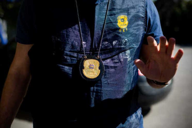 Viatura com droga intercetada pelo SEF em Castro Marim