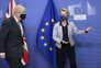 Boris Johnson e Ursula von der Leyen