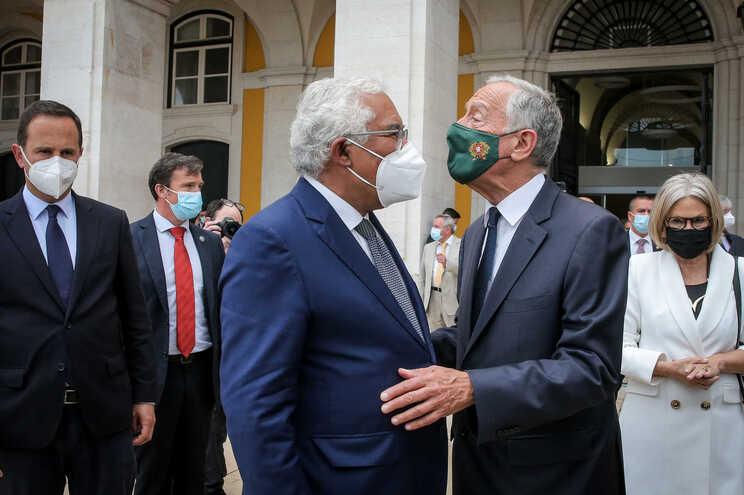 O primeiro-ministro, António Costa, e o Presidente da República, Marcelo Rebelo de Sousa