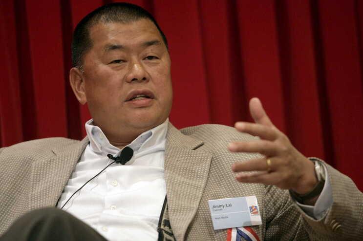 O magnata dos media de Hong Kong, Jimmy Lai