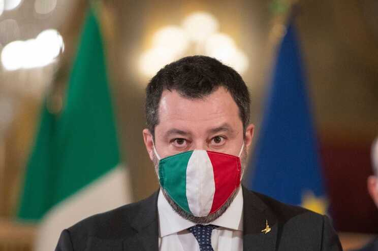 Matteo Salvini, líder do partido de extrema-direita Liga