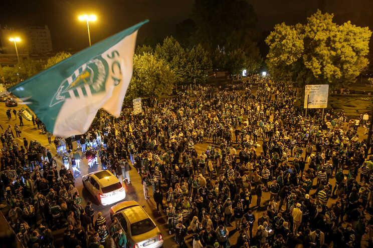 Os distúrbios aconteceram no exterior do Estádio e na rotunda do Marquês
