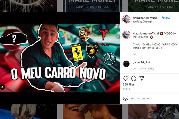 Página de Instagram de Cláudio André