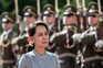 A chefe do Governo, Aung San Suu Kyi. foi detida