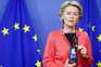 A presidente da Comissão Europeia, Ursula von der Leyen, mostrou o seucertificado digital covid-19