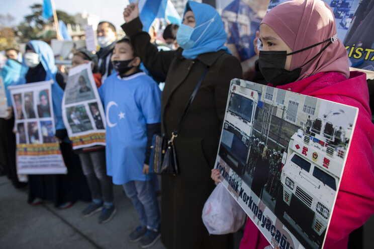 Protestos de uigures, na Turquia