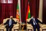 O Presidente da República, Marcelo Rebelo de Sousa, conversa com o seu homólogo da Guiné-Bissau, Umaro