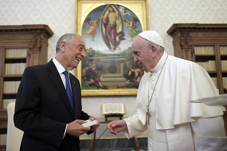 Marcelo Rebelo de Sousa esteve com o Papa Francisco