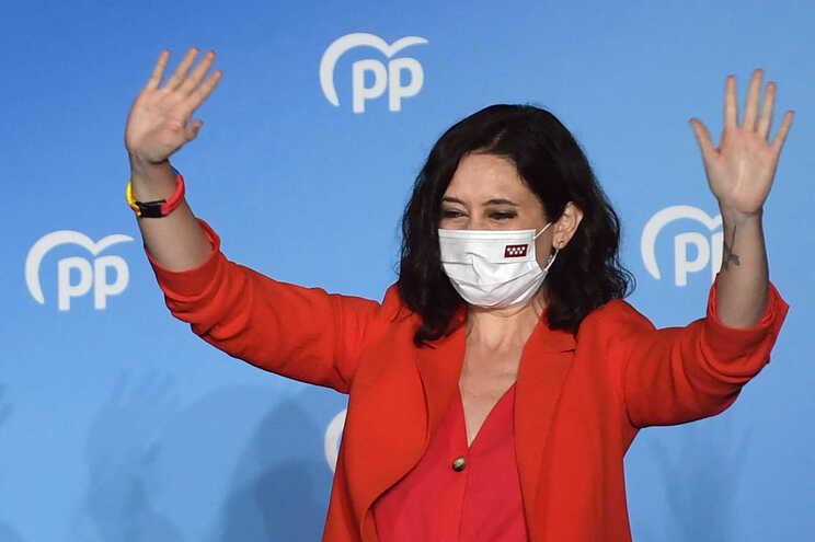 Isabel Díaz Ayuso, presidente de direita da Comunidade de Madrid