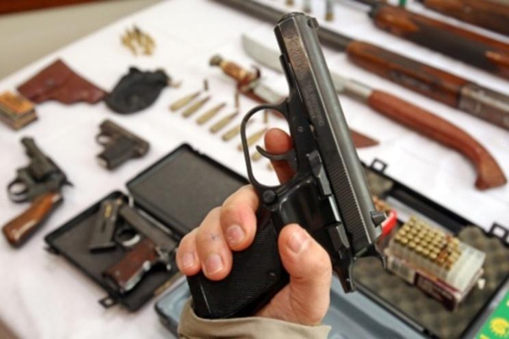 Do total de armas recolhidas 68% são espingardas