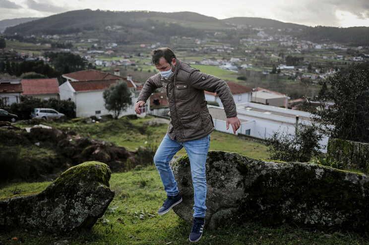 O candidato presidencial Vitorino Silva na sua terra-natal, Rans, concelho de Penafiel