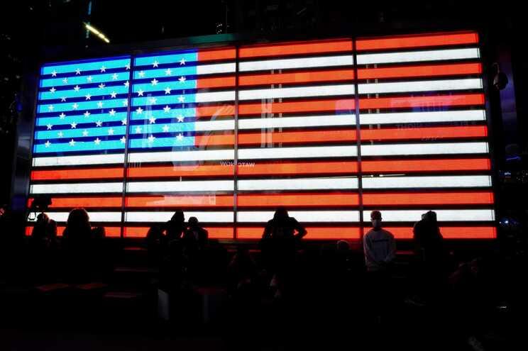 A noite da eleições em Times Square, Nova Iorque