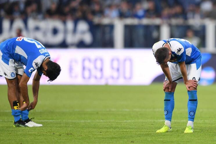 Os jogadores do Nápoles vivem um período complicado