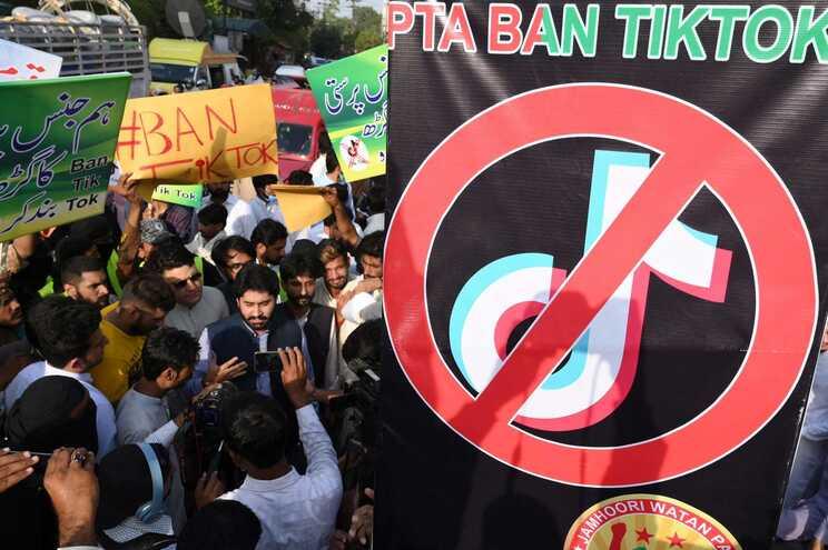 Protesto contra o TikTok