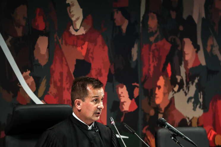 Juiz Ivo Rosa na leitura da decisão instrutória do caso Marquês