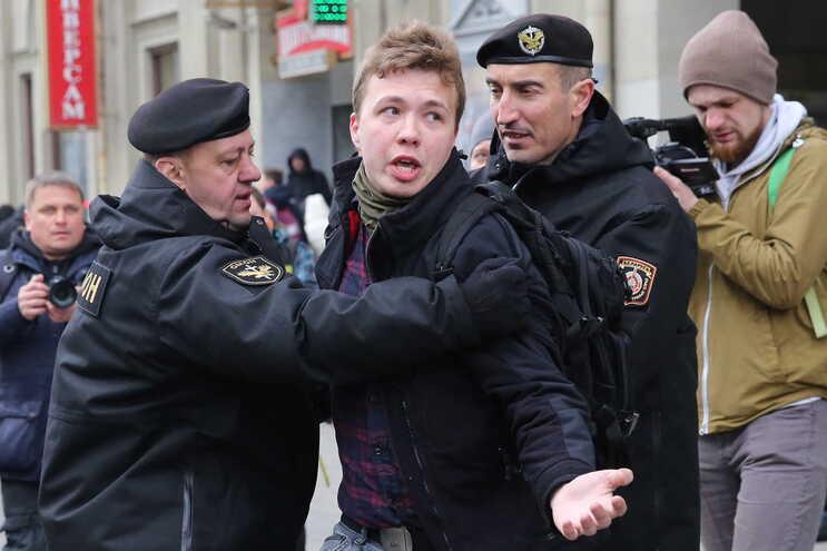 O jornalista e 'blogger' Roman Protasevich, de 26 anos