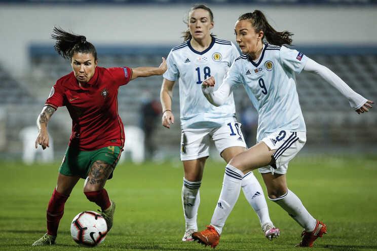 Ana Borges marcou o único golo do triunfo de Portugal sobre a Escócia