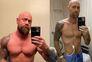 A foto da esquerda foi tirada um mês antes de o enfermeiro ficar doente; na da direita, estava na enfermaria