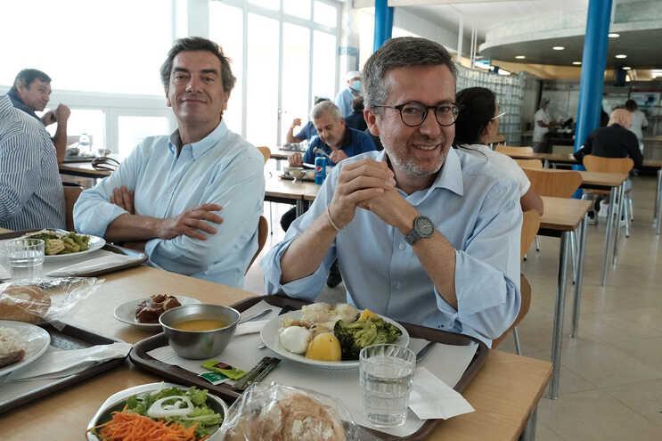 Carlos Moedas almoçou com trabalhadores do município, nos Olivais