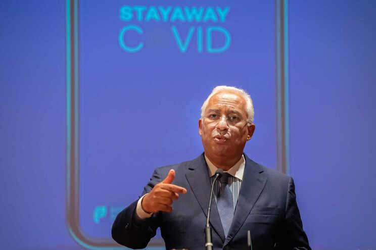 António Costa na apresentação da aplicação móvel