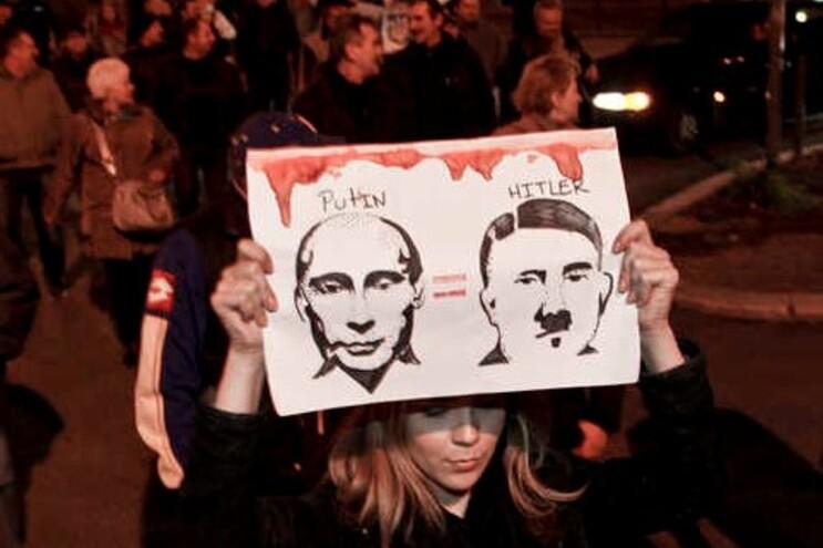 Ativistas russos manifestaram-se contra Putin em Lisboa em janeiro
