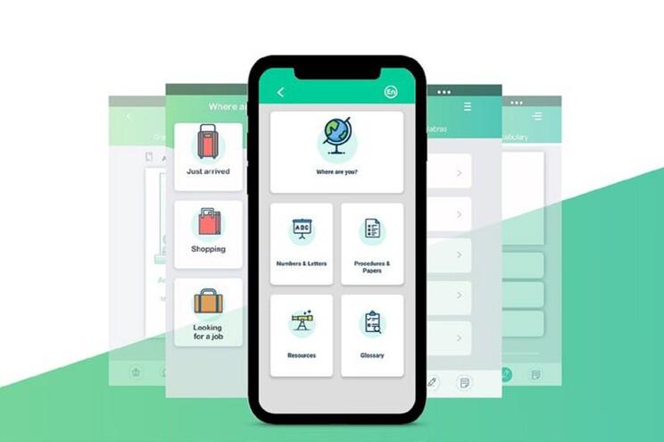 Embora tenha sido pensada para migrantes e refugiados, na realidade a app pode ser usada por qualquer