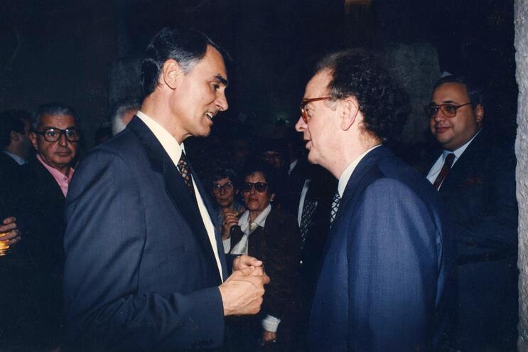Cavaco Silva com Jorge Sampaio, em 1995