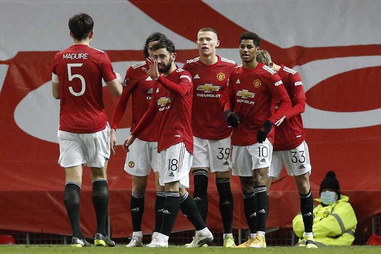 O Manchester United venceu esta terça-feira