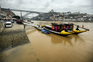Água do rio Douro com cor barrenta