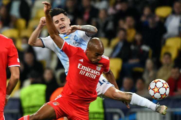 Benfica e Dínamo Kiev empataram sem golos na Ucrânia