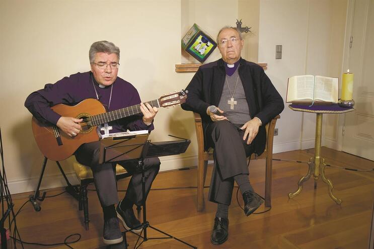 D. Jorge Ortiga já participou numa gravação com o bispo auxiliar D. Nuno Almeida