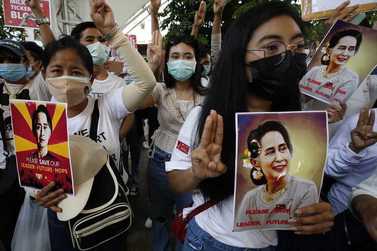 País tem assistido a várias manifestações desde o golpe de Estado a 1 de fevereiro