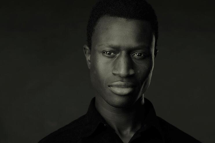O ator Welket Bungué, 32 anos, nascido na Guiné-Bissau