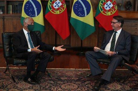 Marcelo Rebelo de Sousa foi recebido por Bolsonaro no Palácio da Alvorada