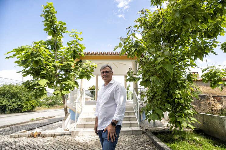 João Cidra Duarte, presidente da Junta de Barcouço, uma freguesia que fica entre os distritos de Coimbra