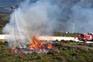 Drones com mangueira testados no combate a fogos