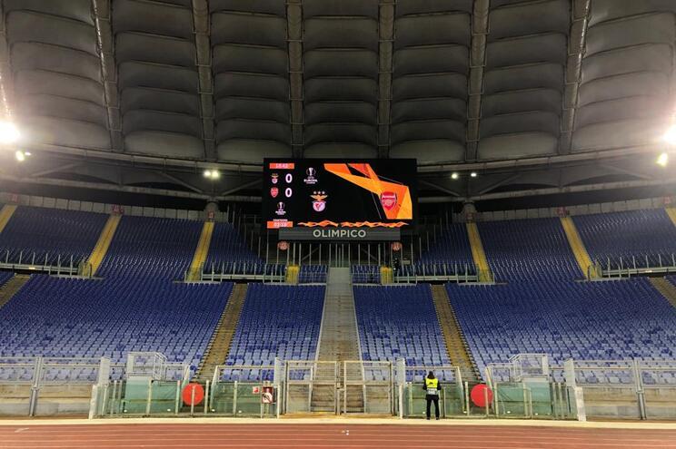 Estádio Olímpico de Roma será palco do Benfica-Arsenal