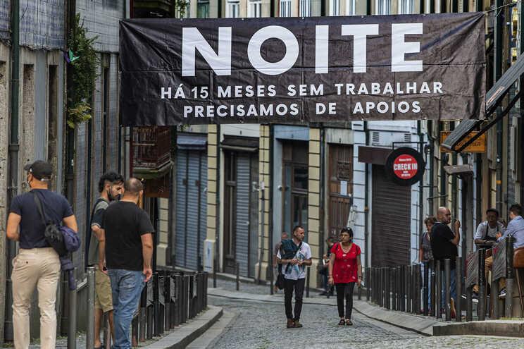 Manifestação do setor de diversão noturna do Porto, a 23 de julho, antes de serem anunciadas as novas
