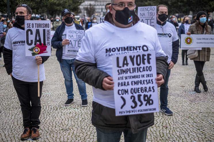 Porto, 03/12/2020 - Manifestação do sector do turismo no Porto. #SalvarOturiSmo   (Leonel de Castro/Global