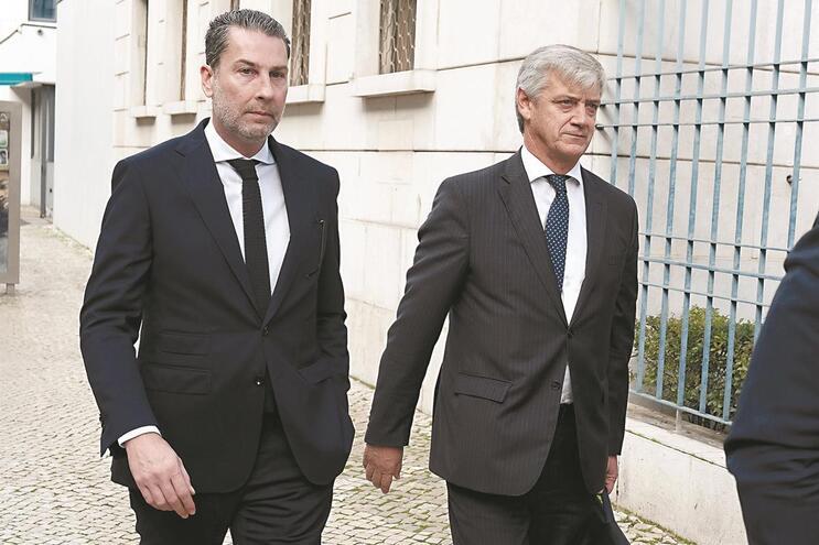 Nuno Gaioso e Domingos Soares Oliveira (à direita) prestaram depoimento em Lisboa
