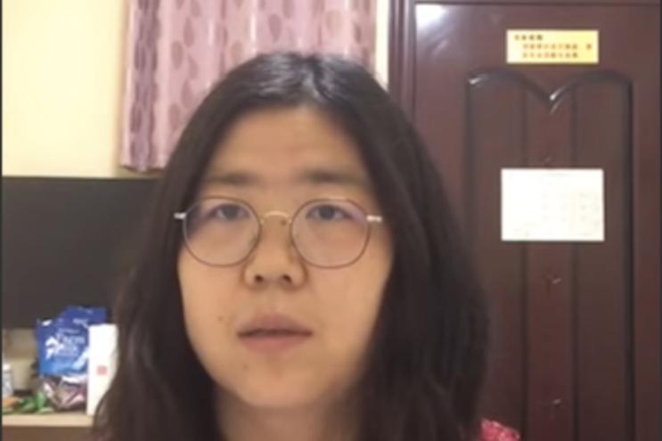 Zhang Zhan foi detida em maio e condenada esta segunda-feira a quatro anos de prisão