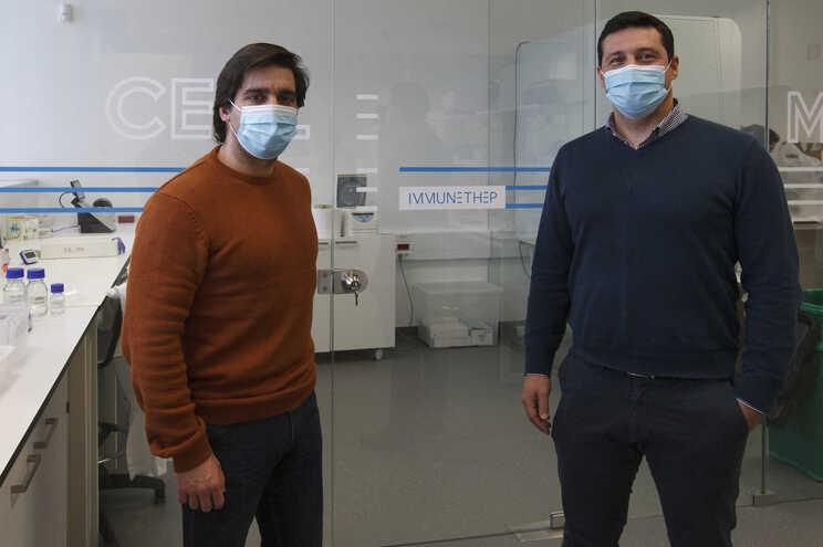 Pedro Madureira e Bruno Santos está a ser desenvolvida na Immunethep