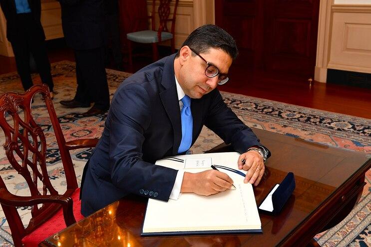 O ministro marroquino dos Negócios Estrangeiros, Nasser Burita