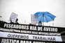 Pescadores protestam para voltar a apanhar bivalves na riade Aveiro