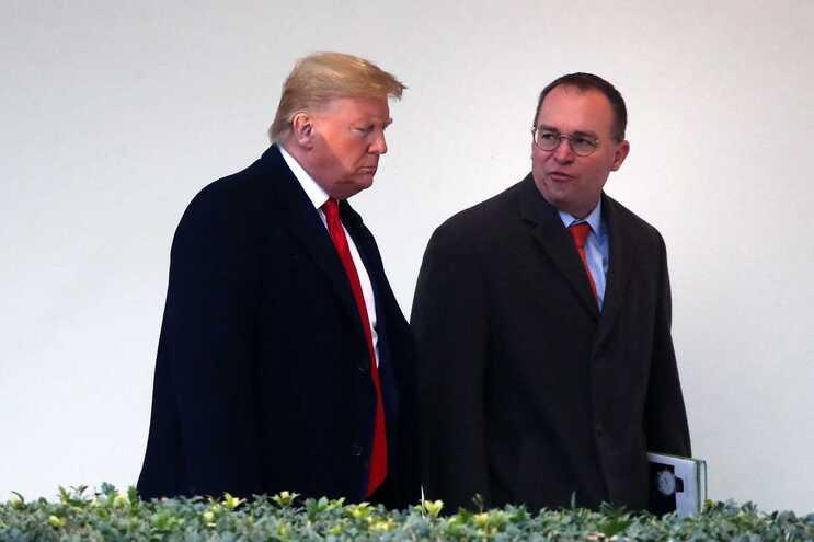 Donald Trump e Mick Mulvaney
