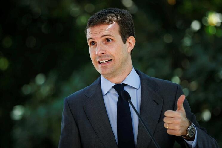 O líder do partido popular espanhol, Pablo Casado