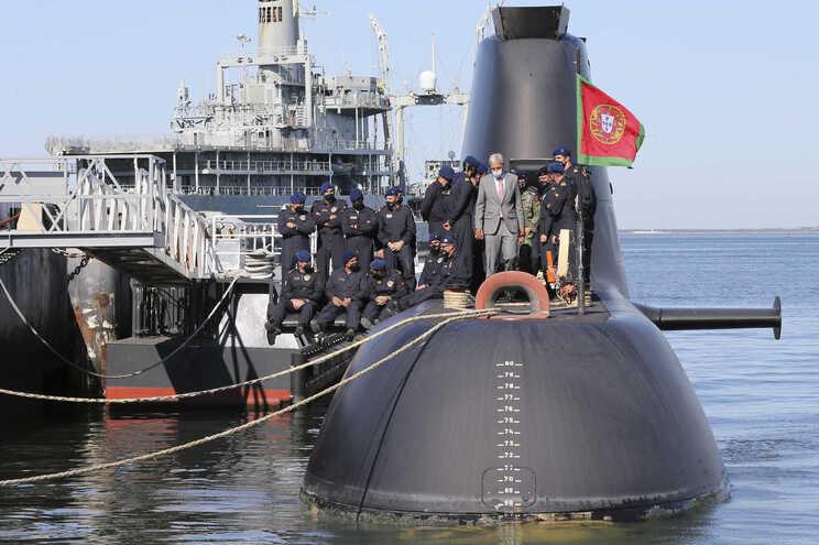 Cerimónia de receção ao submarino Tridente, em agosto