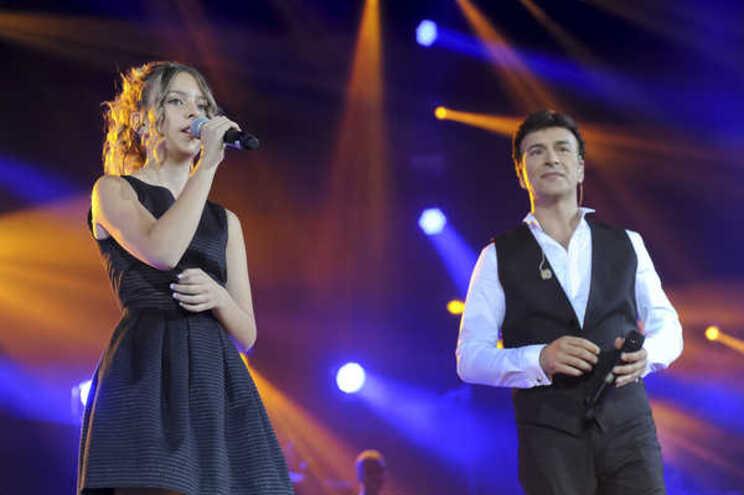 Sara Carreira e Tony Carreira, em 2014