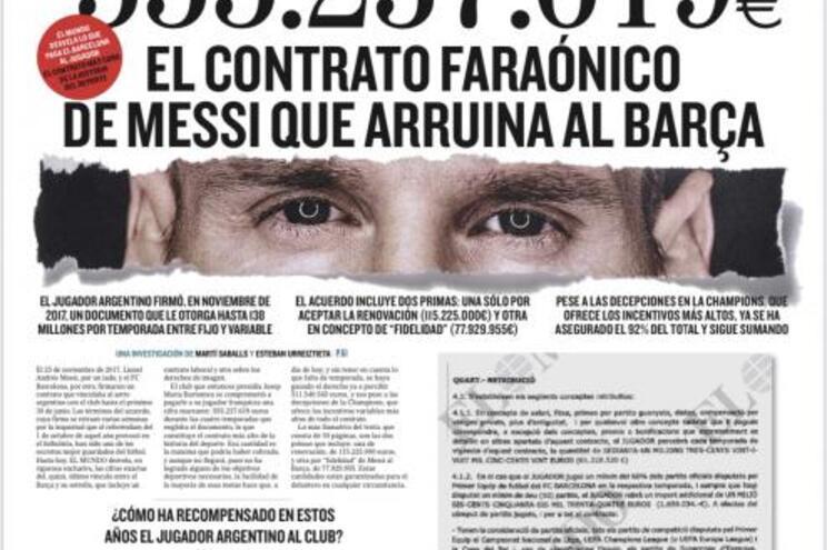A defesa de Messi também tem números absurdos